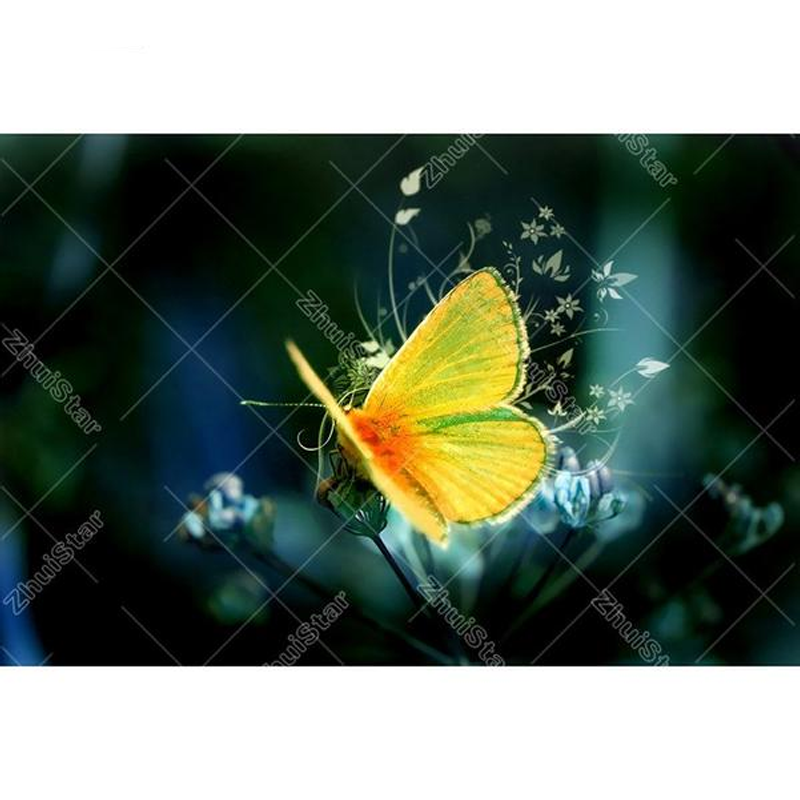 Yellow Butterfly 5D ...