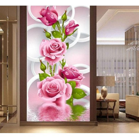 Flowers In The Frame  5D DIY Paint By Diamond Kit