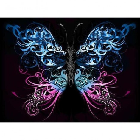 Animal Butterfly Embroidered 5D DIY Paint By Diamond Kit