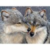 Cross Stitch Wolf Square 5D DIY Paint By Diamond Kit