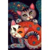 Abstract Cats 5D DIY Paint By Diamond Kit