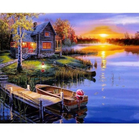 Beautiful Sunset 5D DIY Paint By Diamond Kit