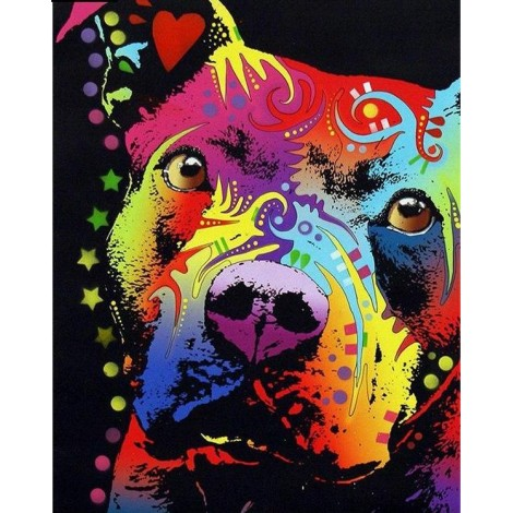Colorful Dog 5D DIY Paint By Diamond Kit