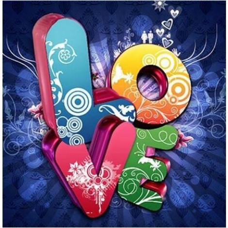 Abstract Love Sign 5D DIY Paint By Diamond Kit